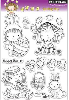 Spring Day (Easter) - Clear Stamp