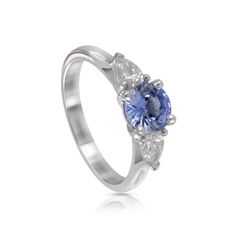 Platinum Blue Sapphire and Diamond Engagement Ring #engagewithcolour http://www.holtsgems.com/product/platinum-blue-sapphire-and-diamond-engagement-ring