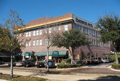 This historic Edgewater Hotel in downtown Winter Garden, Florida.  The hotel originally opened in 1927, but today you can find a bed & breakfast on the second floor and shops and cafes on the street level.  Winter Garden is near Orlando.