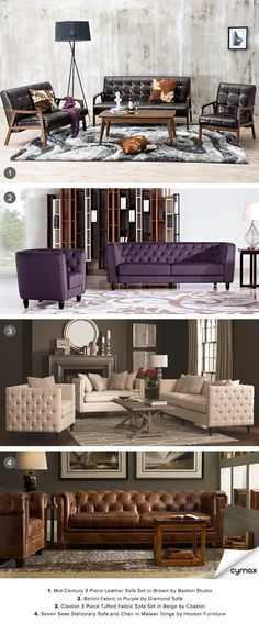 Sophistication and style bundled into a warm, comforting package. Nuzzle yourself into any one of our decadent sofas. Whether you're looking for a touch of mid-century elegance or something more contemporary, we've got a wide selection to help you find the perfect sofa to complement your home and provide the ultimate space for relaxation. Shop now by clicking on the image!