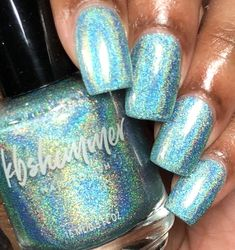 Don't Fear The Reefer Mint Green Linear Holographic Nail Polish