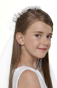 Us Angels Wreath with Removable Veil (Little Girls & Big Girls) available at #Nordstrom