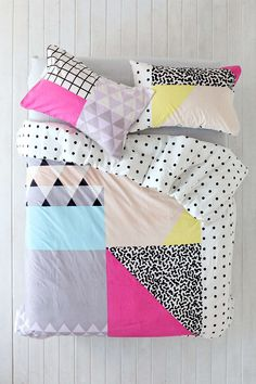 Assembly Home Pattern Block Duvet Cover - Urban Outfitters