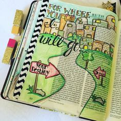 "A close up on Ruth chapter 1 from last weeks Bible journaling meet up.""But Ruth…"