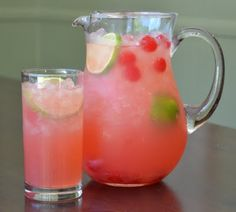 Cherry Lemonade.  I would add vodka!!!