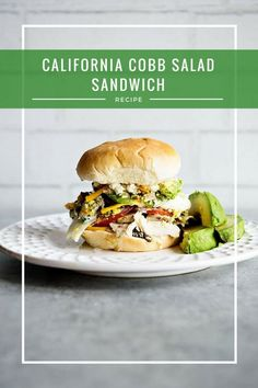 California Cobb Salad Sandwich Recipe from dineanddish.net