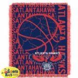 "Northwest NBA Atlanta Hawks 48""x60"" Triple Woven Jacquard Throw (Double Play Series)"