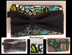 "Bow Wristlet by Brea Boutique. Made with Vera Bradley ""Island Blooms"" fabric"