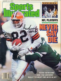 OZZIE NEWSOME CLEVELAND BROWNS AUTO SPORTS ILLUSTRATED JANUARY 1987 COVER ONLY