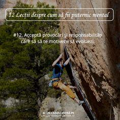 Acceptă provocări care să te motiveze să dai tot ce ai mai bun. Ieși din zona de confort și pregătește-te pentru lucruri mărețe. Mtv, Reading, Words, Face, Happy, Quotes, Happiness, Quotations, Bonheur