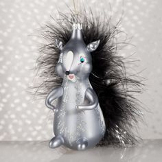 De Carlini Skunk Italian Glass Mouthblown Christmas Ornament..Ordered & he's soooo cute! caw