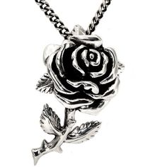 Love Rose Pendant With Chain ($9.99) ❤ liked on Polyvore featuring jewelry, necklaces, accessories, colares, silver, stainless steel chains jewelry, rose pendant necklace, rose pendant, stainless steel jewelry and pendant jewelry