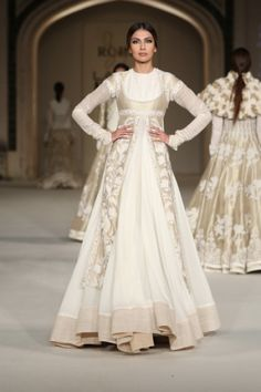 By designer Rohit Bal. Shop for your wedding trousseau, with a personal shopper & stylist in India - Bridelan, visit our website www.bridelan.com #Bridelan #rohitbal #lakmefashionweek