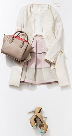 デートにぴったり! ガーリーなピンクコーデ。ルミネエスト新宿のショップから、春気分を盛り上げるピンク色を使ったコーディネートをレッスン。 人気スタイリストMeguさんがシンプル服にトレンド小物を合わせた、今どき感たっぷりのキレ味のあるコーディネートを提案します!