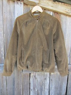 Brown Corduroy Utility Jacket by Intuitions, Women's S // Lined Corduroy Coat