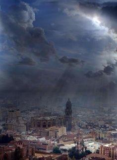 Maravillas de España Espectacular vista aérea de Malaga