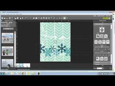 #Video #digital #My Digital studio   My Digital Studio Monday - Chevron card video tutorial