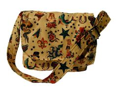 Hemet Old School Vintage Traditional Tattoo Flash Art Crossbody Purse