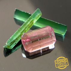 Natural Green and Pink Tourmaline rough 3.15 cts 3 pcs