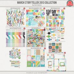 March Storyteller 2013 Digital Scrapbooking Kit Collection SPECIAL FOR NEWS SUBSCRIBERS