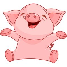 This piggy couldn't be any happier as you can see from its delighted expression.
