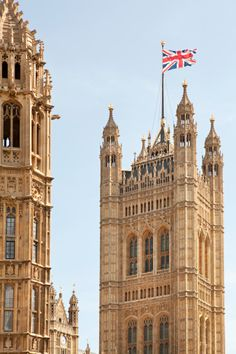 Parliment with the British Flag, London