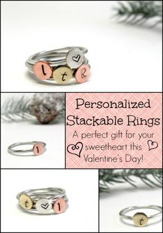 Shop Little Hill Jewelry on Etsy and find adorable personalized items, perfect for Valentine's Day!