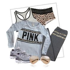 """""""Lazy days outfit"""" by tanyaf1 on Polyvore featuring Victoria's Secret, Under Armour, Valentino, women's clothing, women, female, woman, misses and juniors"""