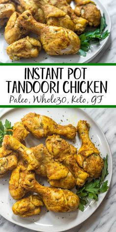 These instant pot tandoori chicken drumsticks make the perfect easy weeknight meal. The blend of Indian spices is quick to prepare and the chicken will satisfy anyone who's eating Paleo, Keto (low-carb), or just a real food based diet! With 10 min Chicken Drumstick Recipes, Chicken Recipes, Paleo Recipes, Real Food Recipes, Dessert Recipes, Chili Recipes, Lunch Recipes, Easy Recipes, Desserts