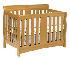 DaVinci Rowan 4-in-1 Convertible Crib in Oak Including Toddler Rails