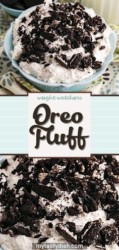 Oreo Fluff come with 3 weight watchers freestyle smart points per serving - Healthy Dessert Weight Watcher Desserts, Weight Watchers Snacks, Plats Weight Watchers, Weight Loss, Weight Watchers Fluff Recipe, Weight Watchers Vegetarian, Lose Weight, Weight Watchers Cheesecake, Treats