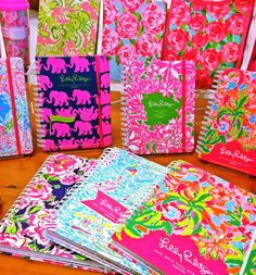Lilly planners! Perfect for writing down dates at Chapter!