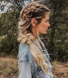 Why Mormon Women are So Prevalent in the Beauty Industry Viking Braids, Viking Hair, Cool Braid Hairstyles, Girl Hairstyles, Kayley Melissa, Braids For Medium Length Hair, Medium Hair, Lagertha Hair, Vikings