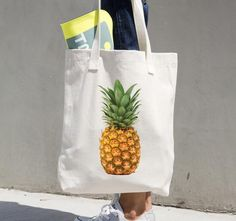 Pineapple Love Tropical Pineapple Tote Bag #plasticfreelife #pineapple