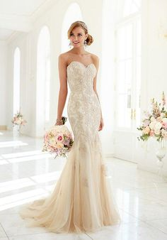 Stella York Wedding Dress, Gold, Style 5986, Sz. 22, $1098 - Available at Debra's Bridal Shop at The Avenues, 9365 Philips Hwy., Jacksonville, FL. 32256, (904) 519-9900. Call us for your consultant appointment.