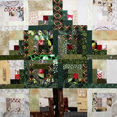 Log Cabin Christmas Tree–Block Tutorial for the 52 Twisted Traditional QAL
