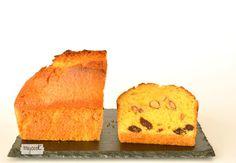 Cake con almendras y pasas - http://www.mycookrecetas.com/cake-con-almendras-y-pasas/