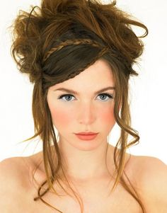long hair for weddings (pretty makeup and hairstyle for the right bride)