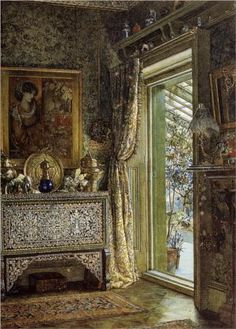 """Drawing Room Holland Park"" - Sir Lawrence Alma-Tadema."