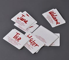 Bold business cards - I love the design, check out the whole set!