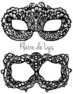 masks for masquerade diy template - Yahoo Image Search Results