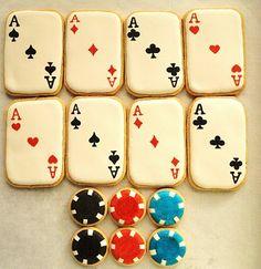 Pin by momma zinga on casino cookies печенье, имбирный пряник, выпечка. Galletas Cookies, Iced Cookies, Cute Cookies, Royal Icing Cookies, Sugar Cookies, Casino Theme Parties, Casino Party, Party Themes, Casino Night