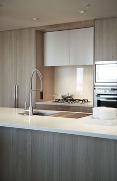 Kitchen by Interior designer Gaile Guevara.  Simple & slick
