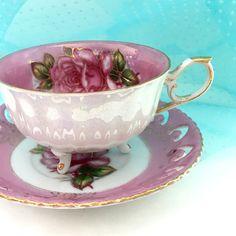 Antique Royal Halsey  Tea Cup Lustreware Tea by VintageTeacupShop