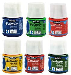 Pebeo Setacolor Light Fabric Textile Paint 45ml Pots - All Colours Available