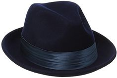 €42, Chapeau en laine bleu marine Stacy Adams. De Amazon.com. Cliquez ici pour plus d'informations: https://lookastic.com/men/shop_items/135190/redirect