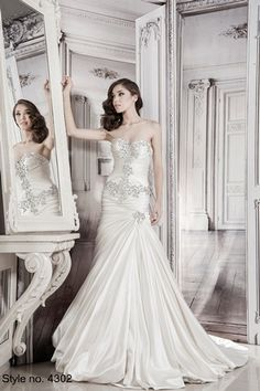 Pnina Tornai - Sweetheart A-Line Gown in Silk Satin