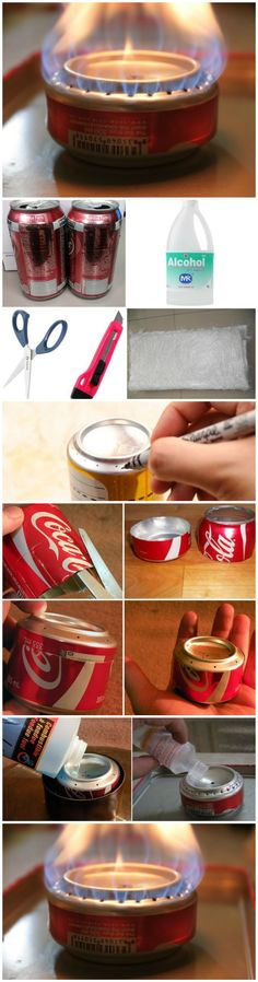 How To Build a Coke Can Stove for Hiking and Camping...this is pretty awesome!!