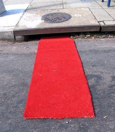 Red Carpet Street Art    byMark Jenkins