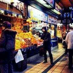 hungry hyottoko at the hungary market